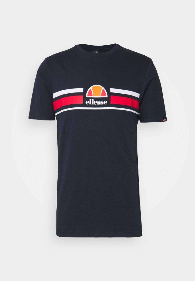 MONTELL - T-shirt imprimé - navy
