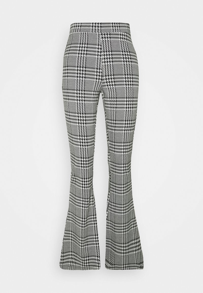 ONLY - ONLZIGA FLARED PANTS - Trousers - black/cloud dancer