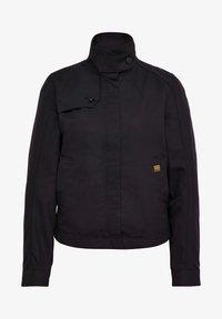 SLIM OVER - Summer jacket - dk black