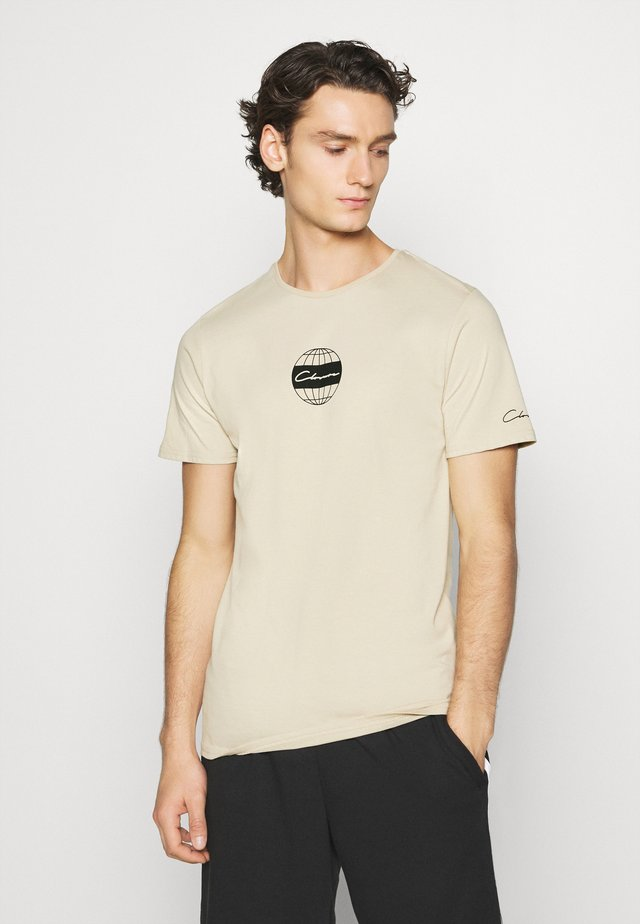 GLOBAL TEE - T-shirts print - stone