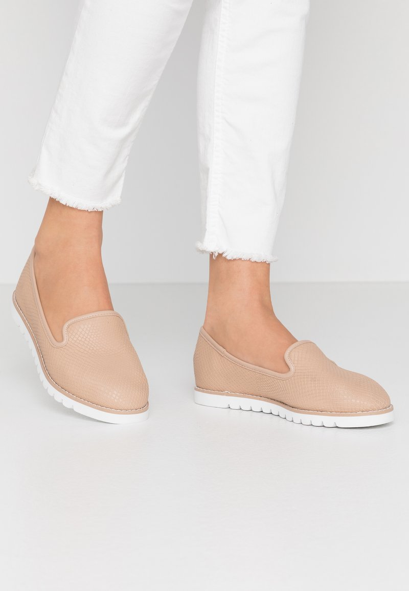 Dune London WIDE FIT - WIDE FIT GALLEON - Slip-ons - cappuccino