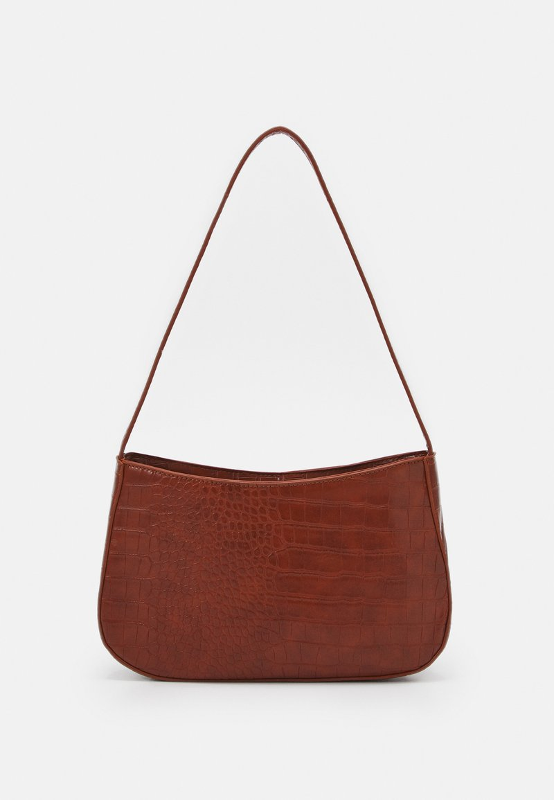 Pieces - PCDANIA SHOULDER BAG  - Handbag - cognac