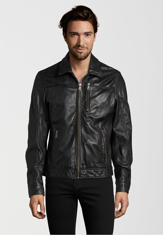 BALE - Leather jacket - black