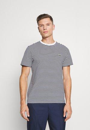 Basic T-shirt - white/navy blue