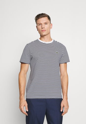 T-paita - white/navy blue
