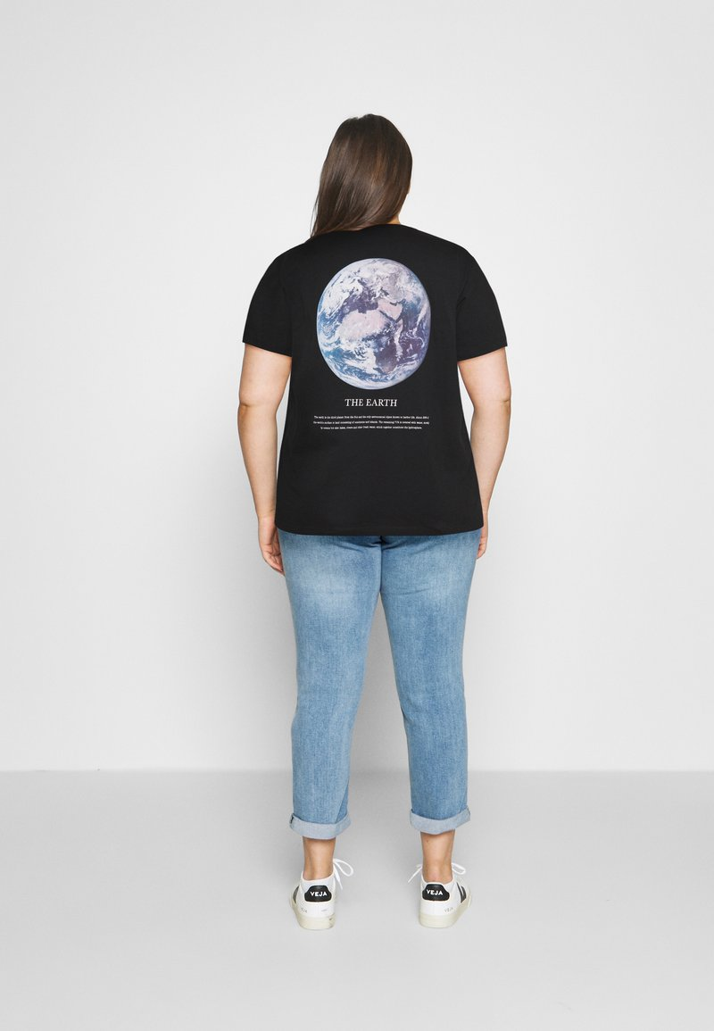 Even&Odd Curvy - Print T-shirt - black