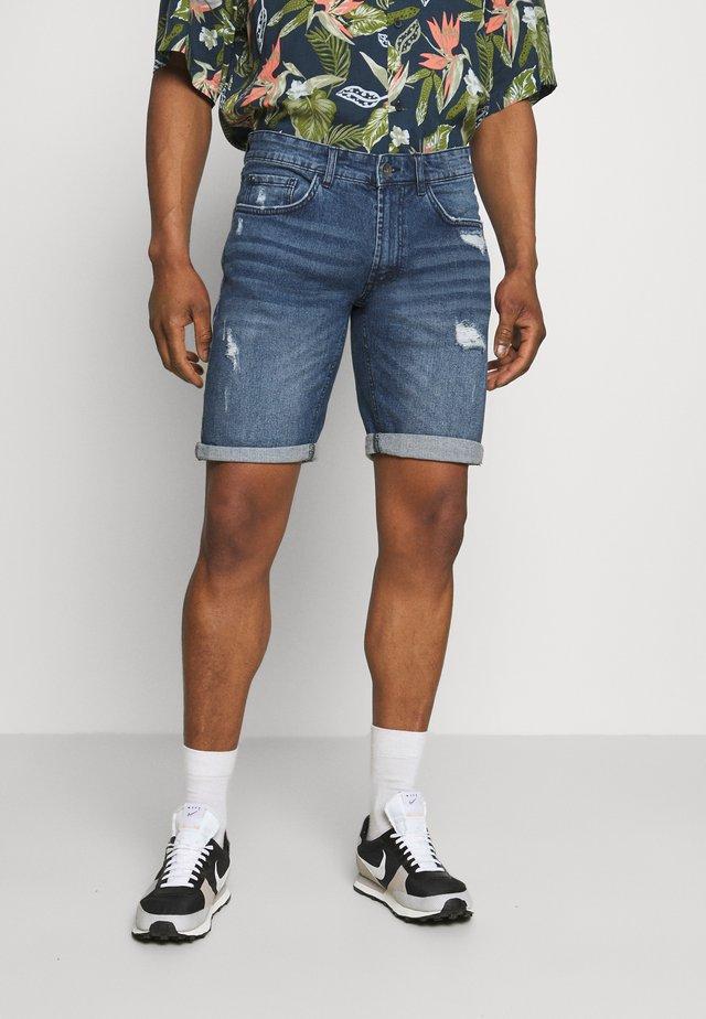 OSLO DESTROY - Short en jean - dark blue