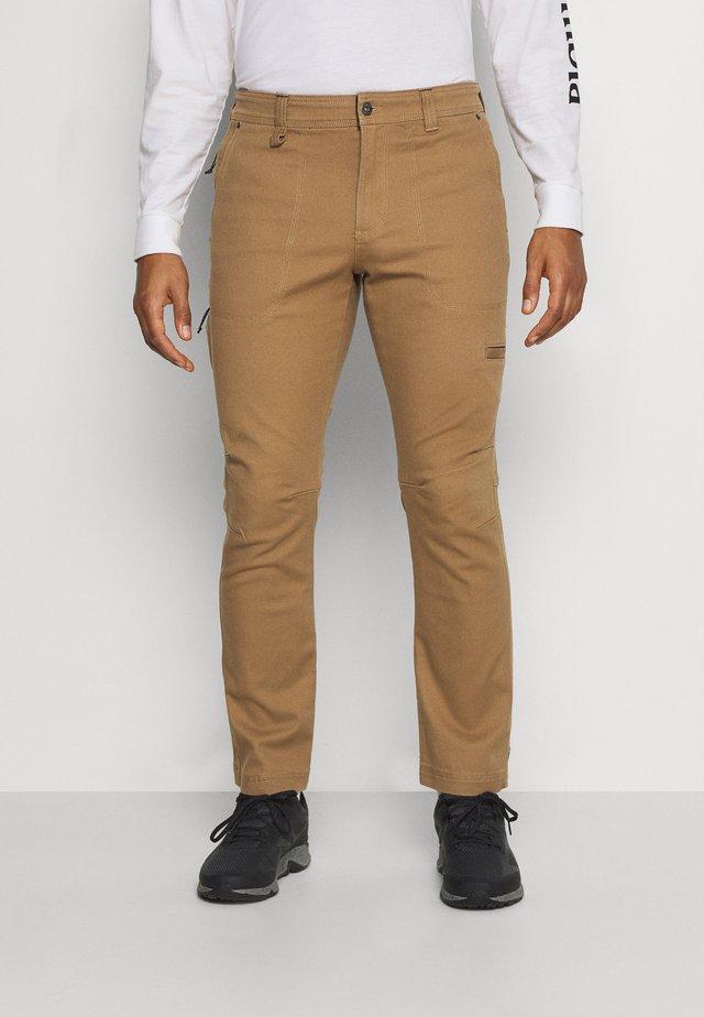 FLARE GUNWORK PANT - Spodnie materiałowe - delta