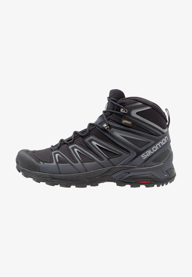 X ULTRA 3 MID GTX - Hiking shoes - black/india ink/monument