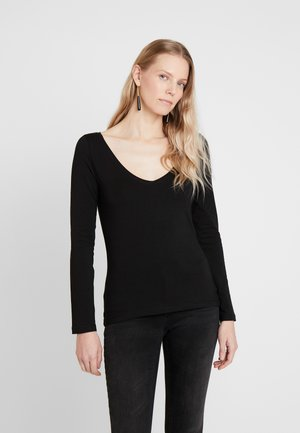 BASIC - Topper langermet - black
