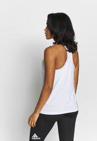adidas Performance - TECH BOS TANK - Treningsskjorter - white/black - 2