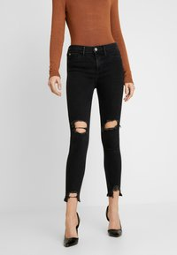 River Island - MOLLY - Jeans Skinny Fit - black denim - 0