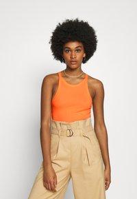 Monki - Top - orange/black dark solid - 1