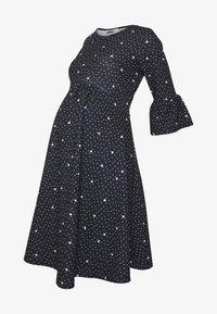Dorothy Perkins Maternity - FLUTE SLEEVE FIT AND FLARE DRESS - Žerzejové šaty - black - 3