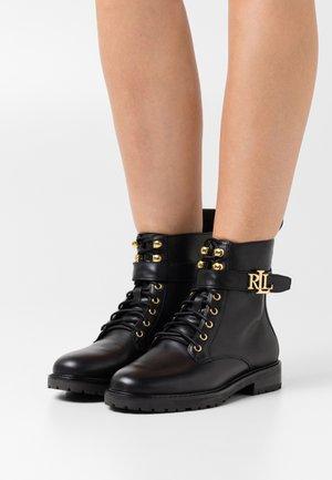 ELRIDGE BOOTIE - Lace-up ankle boots - black