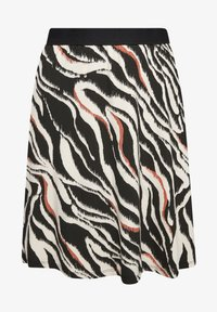s.Oliver - A-line skirt - black zebra aop - 6