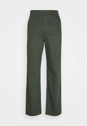 RELAXED FIT TAPERED PANTS - Bukser - green