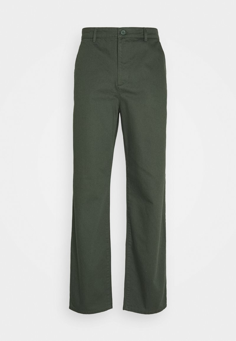 NU-IN - Byron Denton x NU-IN RELAXED FIT TAPERED PANTS - Trousers - green