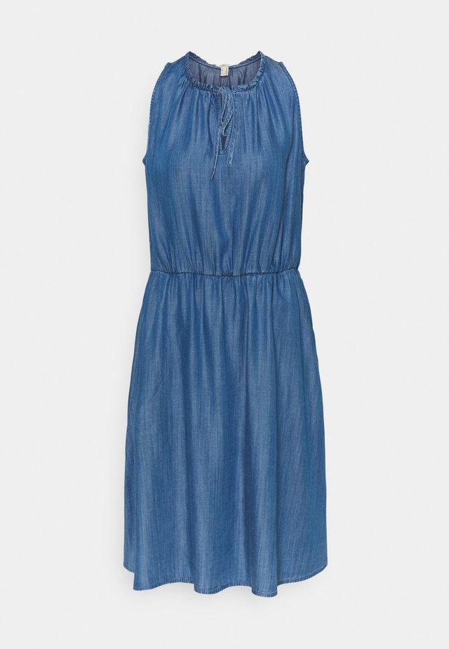 DRESS - Denim dress - blue medium wash