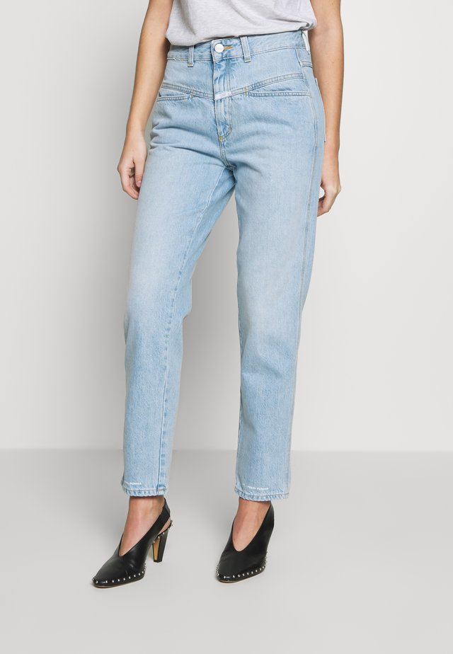 PEDAL PUSHER - Jeansy Relaxed Fit - light blue