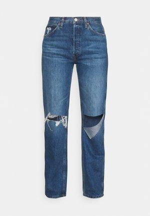 HIGH RISE LOOSE - Džíny Straight Fit - blue demin