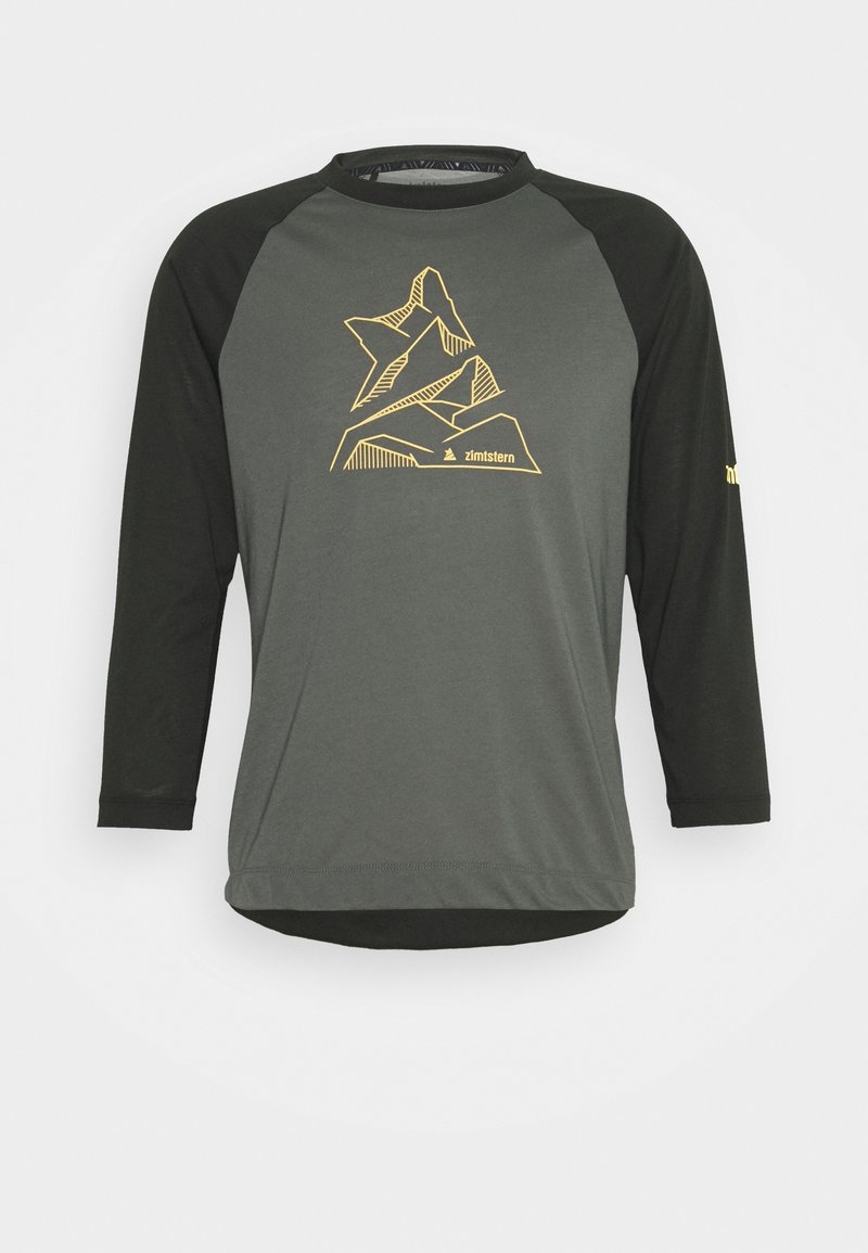 Zimtstern - PURE FLOWZ SHIRT 3/4 MENS - Sports shirt - gun metal/priate black