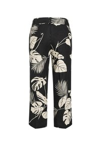 Cambio - Trousers - black/sand natural leaf - 1