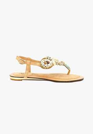 ATENAS - T-bar sandals - sand