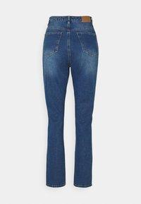 Missguided Petite - WRATH HIGHWAISTED SPLIT - Straight leg jeans - blue - 1