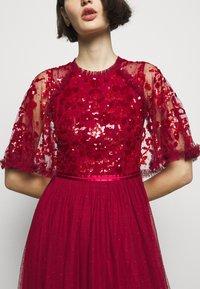 Needle & Thread - SEQUIN RIBBON BODICE MAXI DRESS - Společenské šaty - deep red - 5