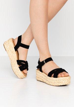 HALSEWEG - Platform sandals - black