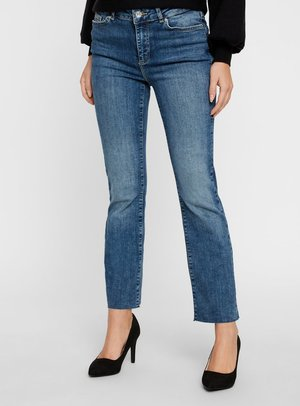 VMSHEILA - Flared Jeans - medium blue denim
