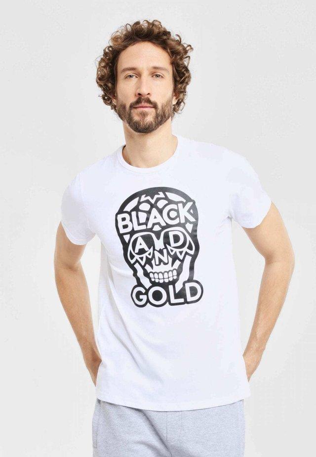 JOGSMALOGO - T-shirt print - white
