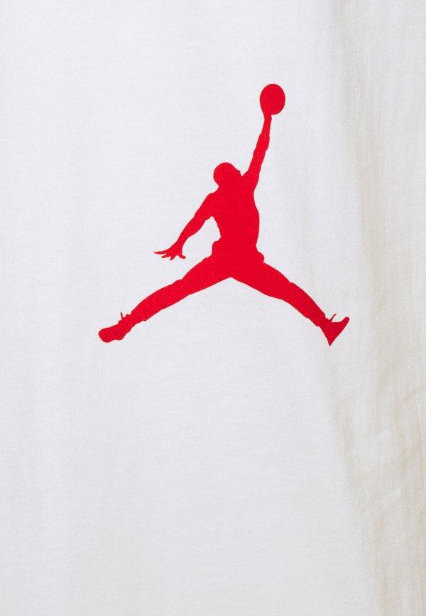 Jordan AIR STRETCH CREW - T-shirt z nadrukiem - white/black/gym red/biały Odzież Męska RUVO