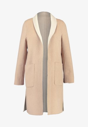 DOUBLE FACE REVERSIBLE SHAWL COLLAR - Classic coat - camel