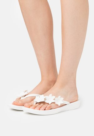 IQUSHION FLORAL - T-bar sandals - white