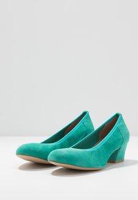 PERLATO - Classic heels - turquoise - 4