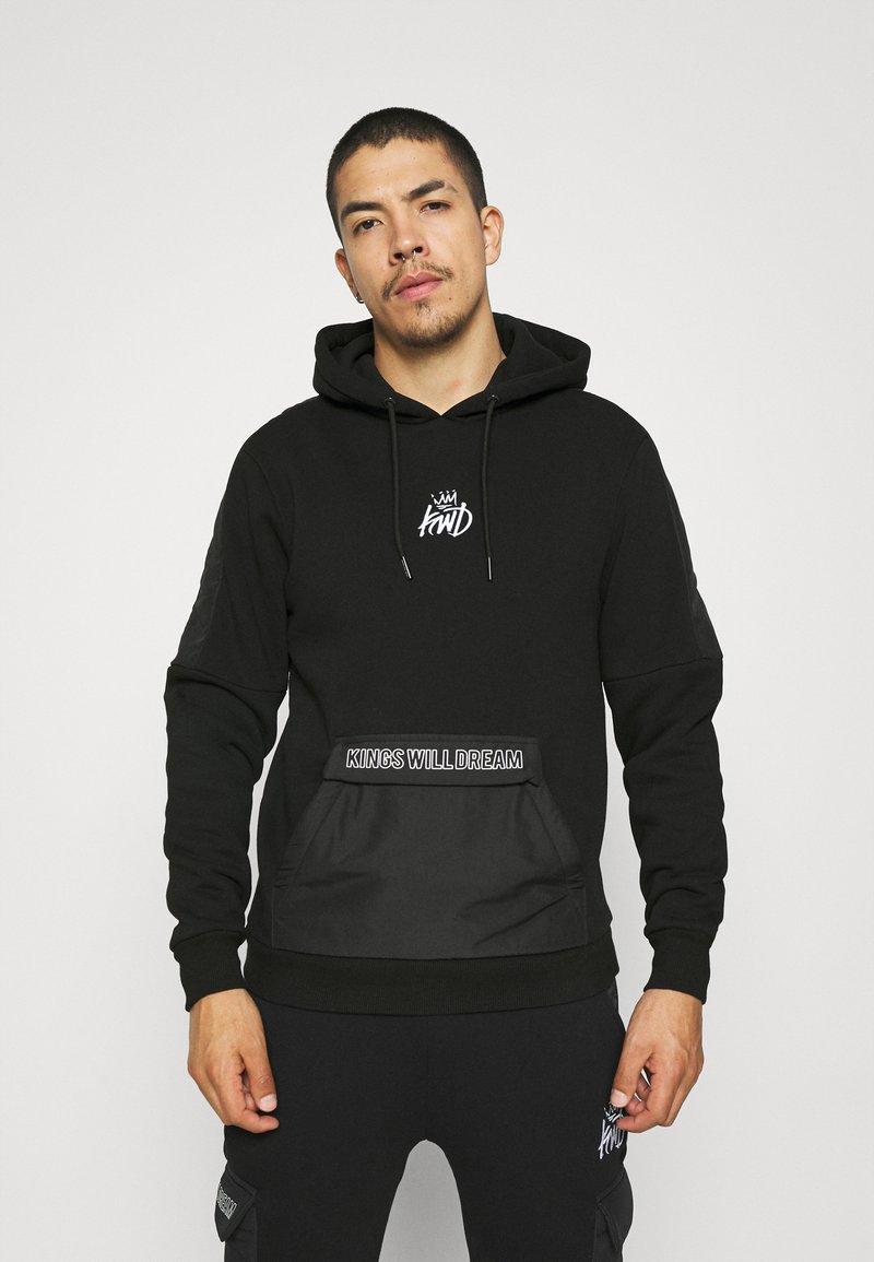 Kings Will Dream - RAFFORD OVERHEAD HOOD - Sweatshirt - jet black