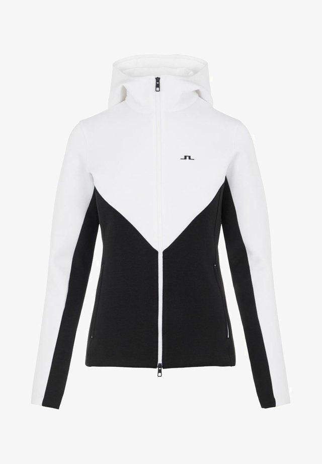 CRYSTAL CHEVRON - veste en sweat zippée - black