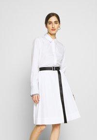 KARL LAGERFELD - DRESS LOGO BELT - Blousejurk - white - 0