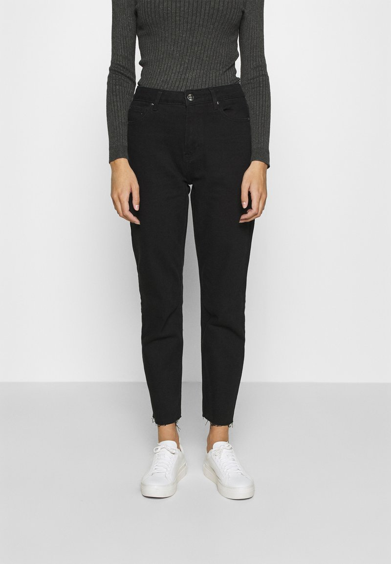 ONLY - ONLEMILY LIFE - Džíny Straight Fit - black denim