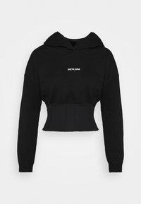 Sixth June - CORSET HOODIE - Sweatshirt - black - 0