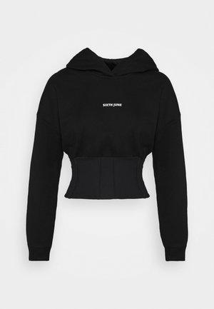 CORSET HOODIE - Sweatshirt - black