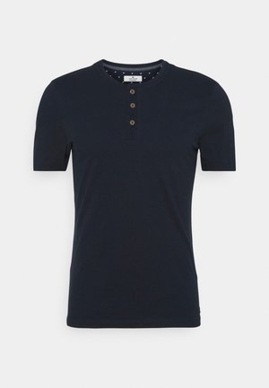 HENLEY WITH SMART DETAILS - Basic T-shirt - dark blue