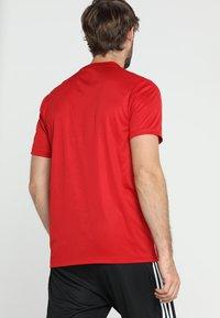 adidas Performance - AEROREADY PRIMEGREEN JERSEY SHORT SLEEVE - T-shirt med print - powred/white - 2