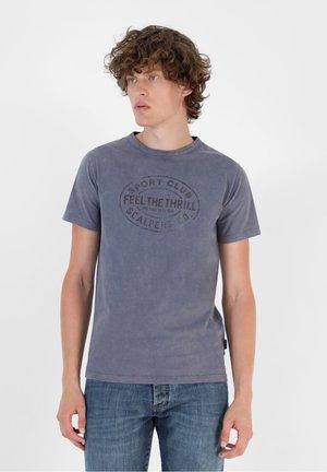 FADED PRINT  - Print T-shirt - blue