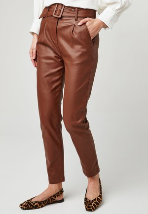 TAN  - Trousers - brown