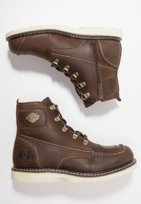 Harley Davidson - HAGERMAN - Lace-up ankle boots - brown - 1