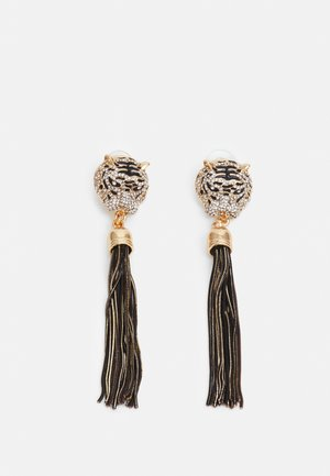 ISTOKPOGA - Boucles d'oreilles - black and clear on gold-coloured