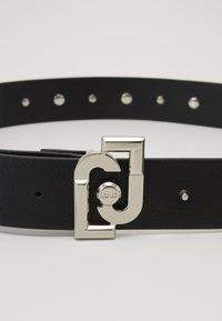 LIU JO - CINTURA LOGO BUCKLE - Belt - nero - 2